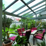 Aluminium-und Schrägkonstruktionen bei Wintergärten