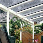 Mit Terrassenüberdachung vor Wind und Wetter rundum geschützt